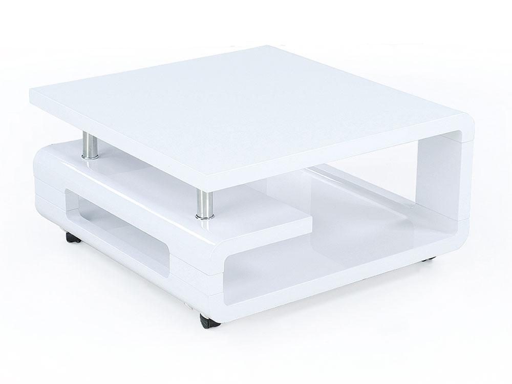 table basse carr tara en mdf blanc 65199. Black Bedroom Furniture Sets. Home Design Ideas