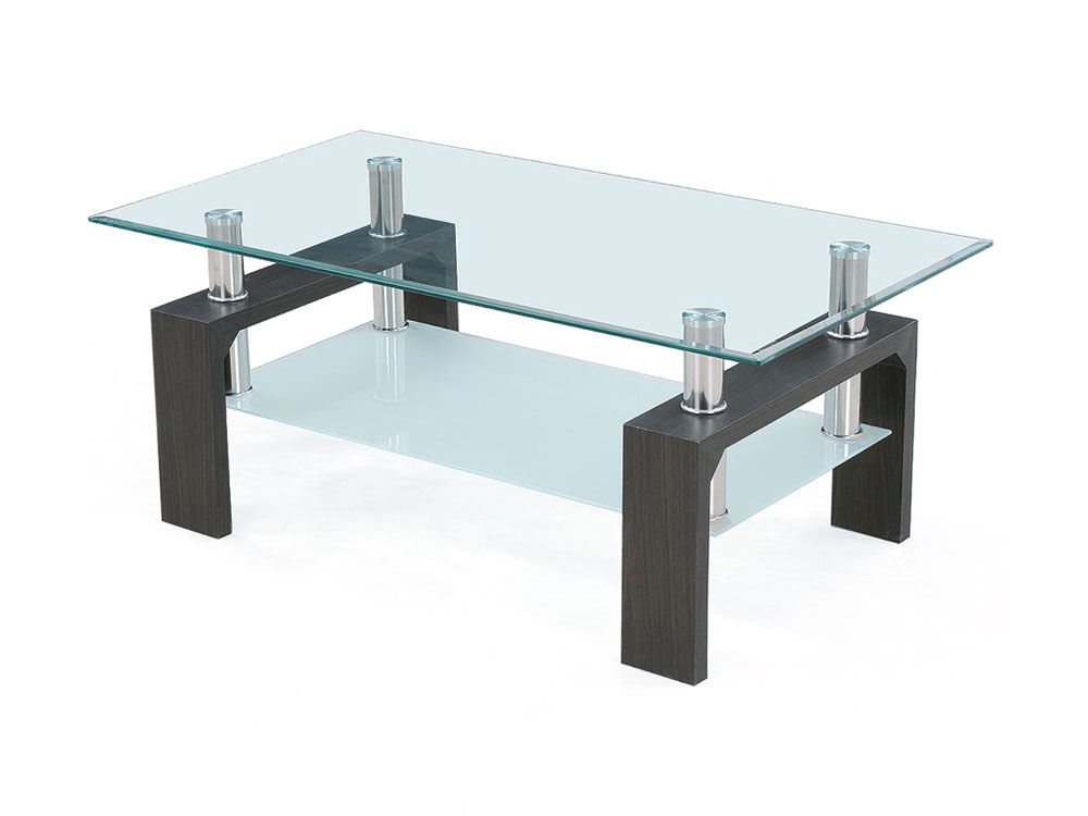 table basse en verre rectangulaire. Black Bedroom Furniture Sets. Home Design Ideas