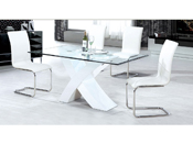 "Table repas ""Mona"" - 150 x 90 x 75 cm - Blanc"