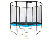 "Trampoline ""Punchi 300 Atoll"" - filet + échelle - 3 pieds"