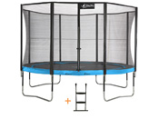 "Trampoline ""Punchi 360 Atoll"" - filet + échelle - 4 pieds"