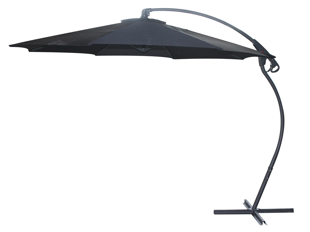 parasol jardin d port maya 3 m noir 58470. Black Bedroom Furniture Sets. Home Design Ideas