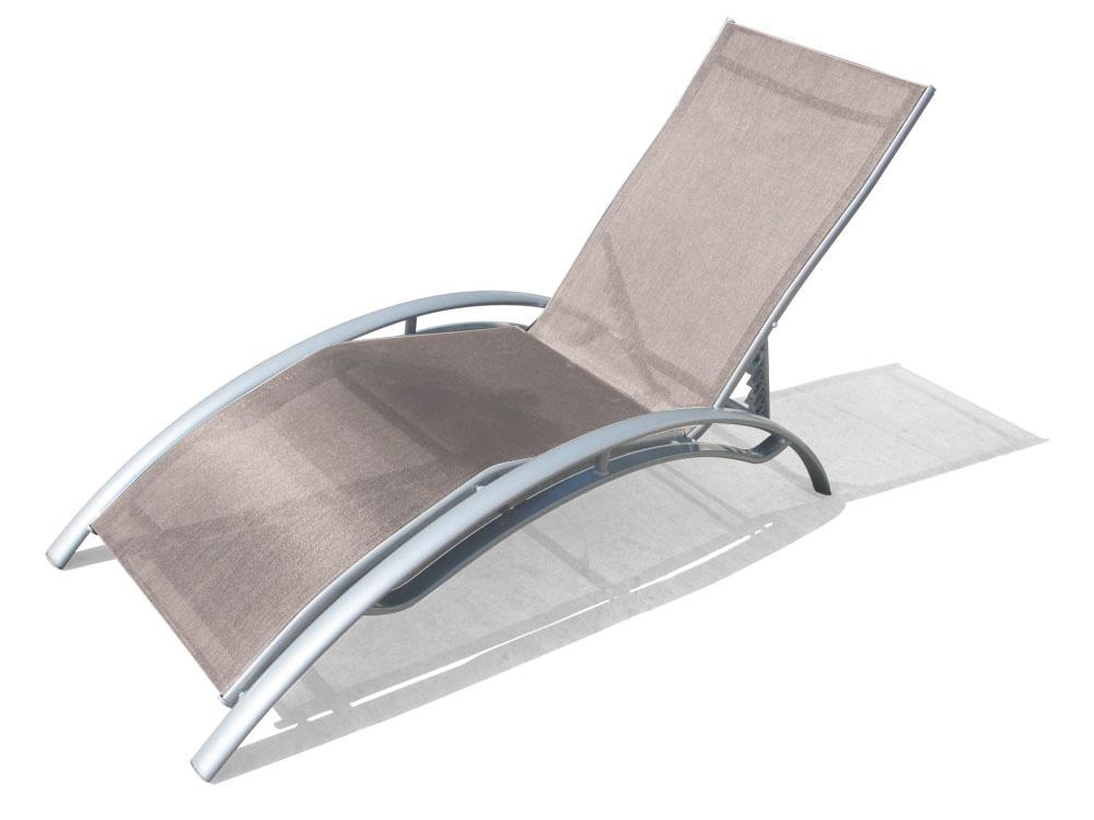 bain de soleil 100 aluminium et textil ne taupe phoenix. Black Bedroom Furniture Sets. Home Design Ideas