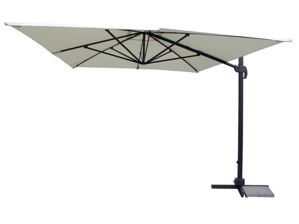 Parasol jardin d port en alu buffalo luxe 3 x 4 m for Toile pour parasol deporte