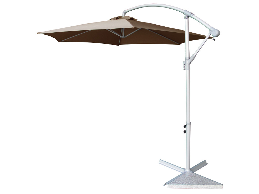 parasol jardin d port en aluminium 3 m 58462. Black Bedroom Furniture Sets. Home Design Ideas