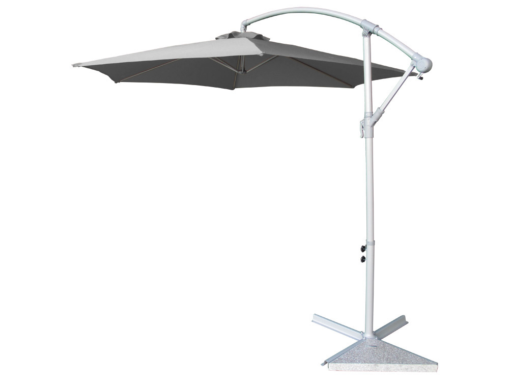 parasol jardin d port en aluminium san diego confort 3 m gris 58462 65760. Black Bedroom Furniture Sets. Home Design Ideas