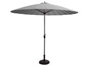 """Parasol jardin - Style Japonais - """"San diego LiLi"""" - Ø2.7m - Gris"""