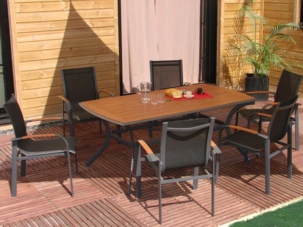 Table De Jardin Aluminium Noir Des Id Es