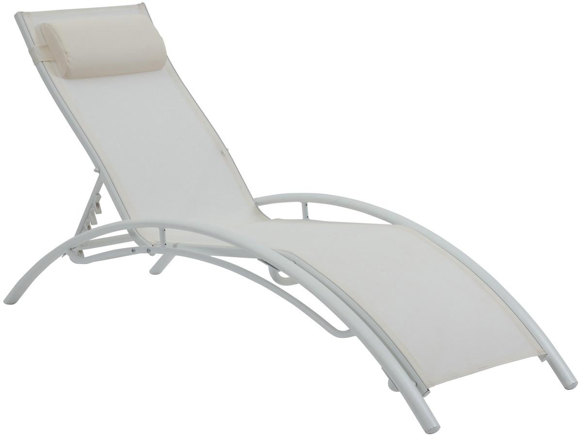 bain de soleil en aluminium beauty phoenix ecru. Black Bedroom Furniture Sets. Home Design Ideas