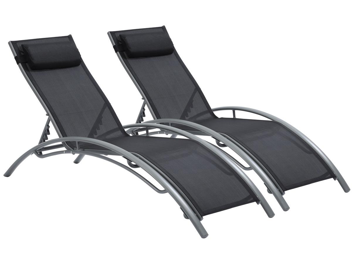 bain de soleil en aluminium beauty phoenix noir. Black Bedroom Furniture Sets. Home Design Ideas