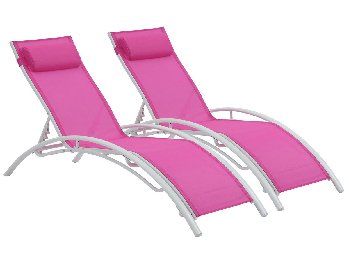 bain de soleil en aluminium beauty phoenix fuchsia. Black Bedroom Furniture Sets. Home Design Ideas