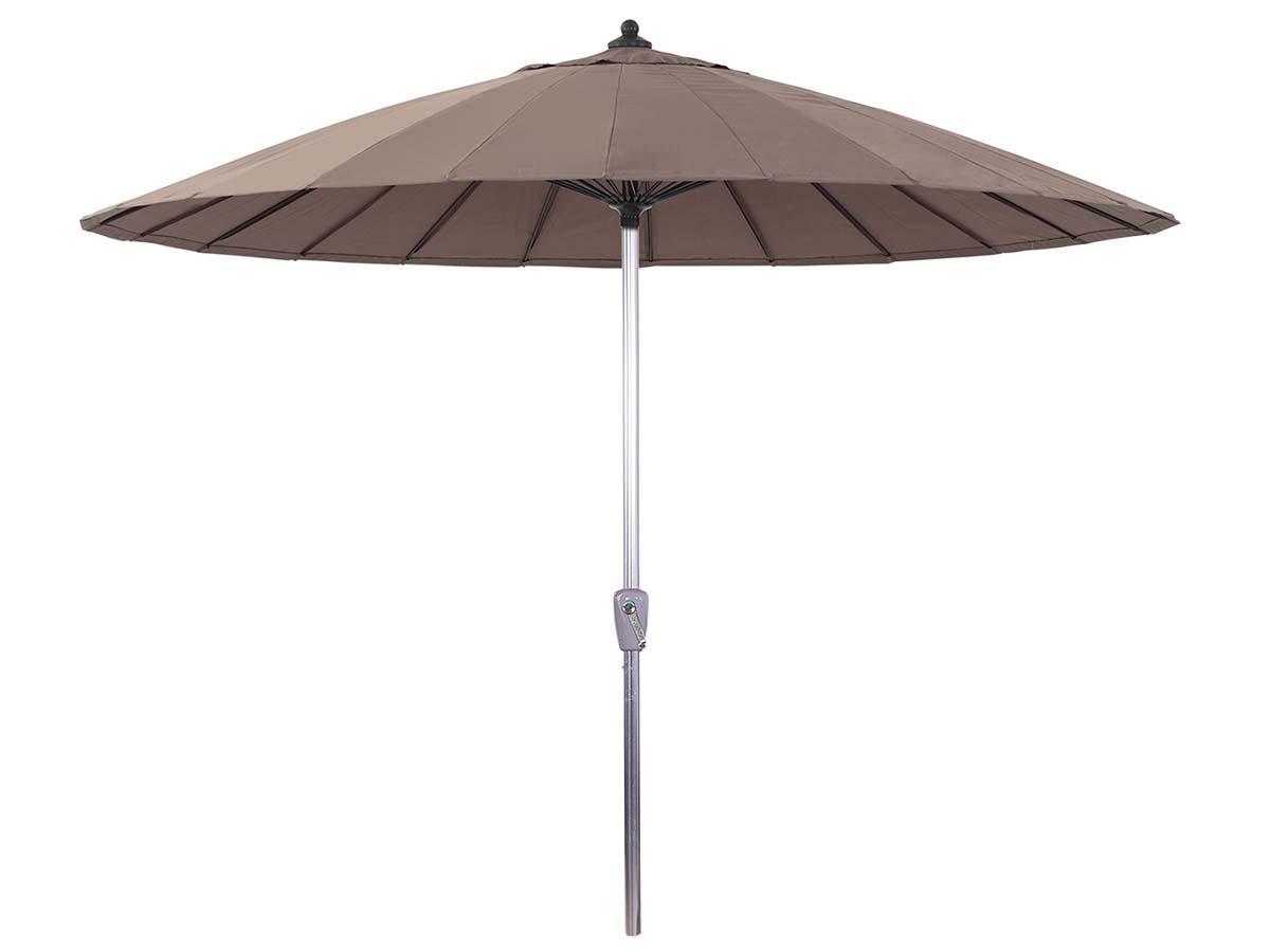 Parasol jardin droit Alu Lili - Style Japonais - Ø2.7m - Taupe