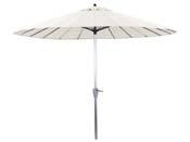 "Parasol jardin droit Alu ""Lili""- Style Japonais - Ø2.7m - Ecru"