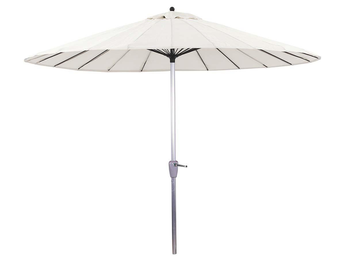 Parasol jardin droit Alu Lili- Style Japonais - Ø2.7m - Ecru