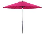 "Parasol jardin droit Alu ""Lili"" - Style Japonais - Ø2.7m - Fushia"