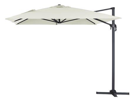 """Parasol jardin déporté Alu """"Sun 4"""" - Rectangle- 3 x 4 m - Ecru"""