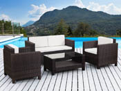 Salon de jardin r�sine tress�e Ottawa - Buffalo - Marron