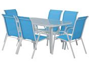 Salon de jardin en textilène Cordoba - Phoenix - Bleu
