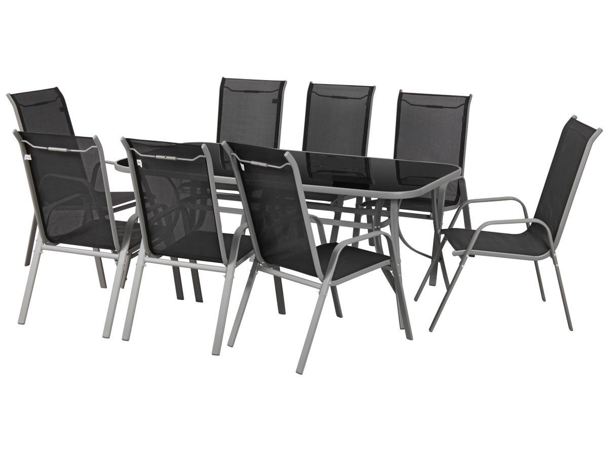 salon de jardin cordoba xl 180 phoenix noir 79376 79377. Black Bedroom Furniture Sets. Home Design Ideas