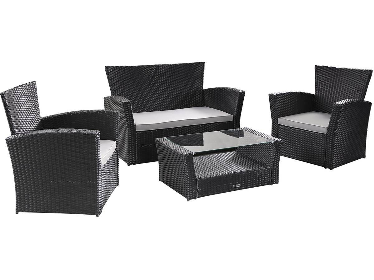 salon de jardin en textil ne cordoba phoenix gris. Black Bedroom Furniture Sets. Home Design Ideas