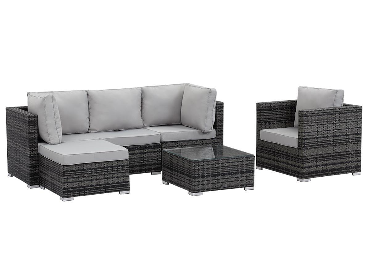 salon de jardin en r sine tress e ibiza florida gris 62185 68488. Black Bedroom Furniture Sets. Home Design Ideas