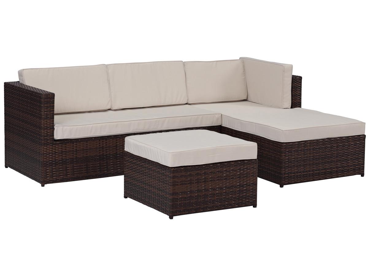 salon de jardin r sine tress e ibiza premium buffalo marron 4 places 79396 79400. Black Bedroom Furniture Sets. Home Design Ideas