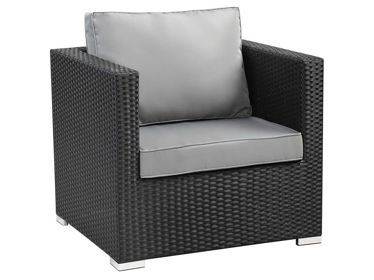 fauteuil jardin en r sine tress e ibiza atlanta noir. Black Bedroom Furniture Sets. Home Design Ideas