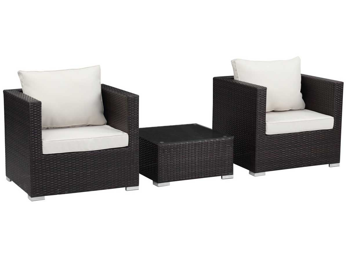 salon de jardin r sine tress e malibu buffalo marron 89196 89197. Black Bedroom Furniture Sets. Home Design Ideas