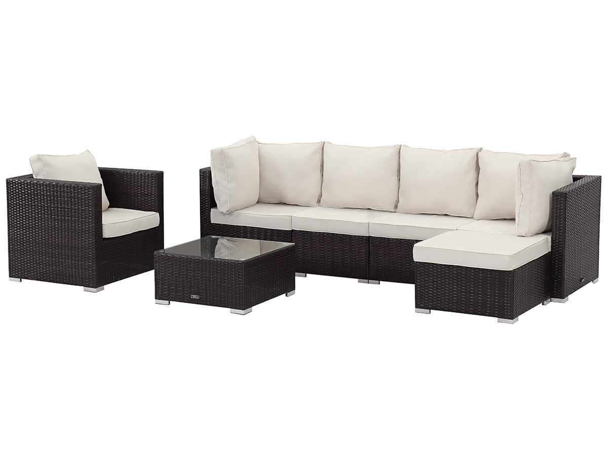 salon de jardin modulable en r sine tress e boston luxe buffalo marron 89200 89201. Black Bedroom Furniture Sets. Home Design Ideas