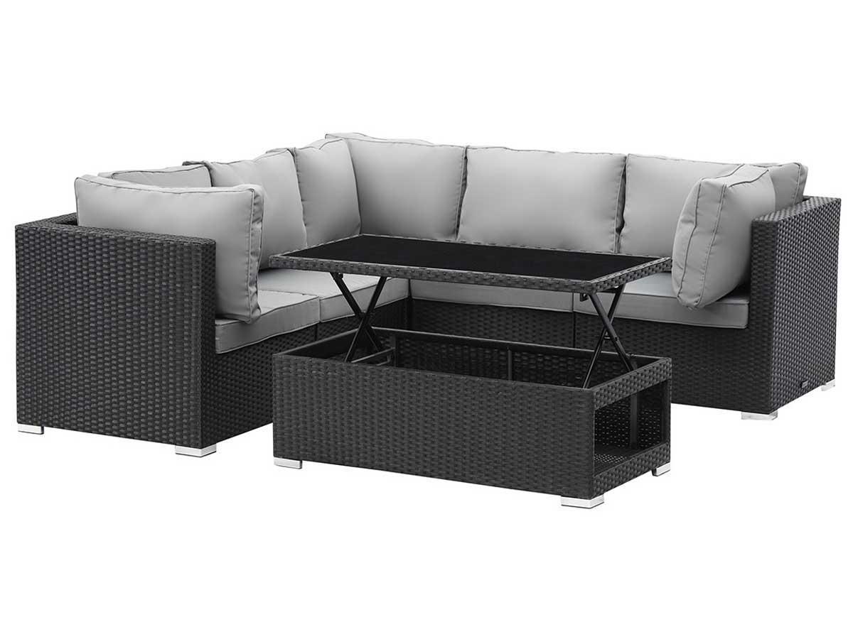 salon de jardin modulable en r sine tress e auckland first atlanta noir 89204 89207. Black Bedroom Furniture Sets. Home Design Ideas