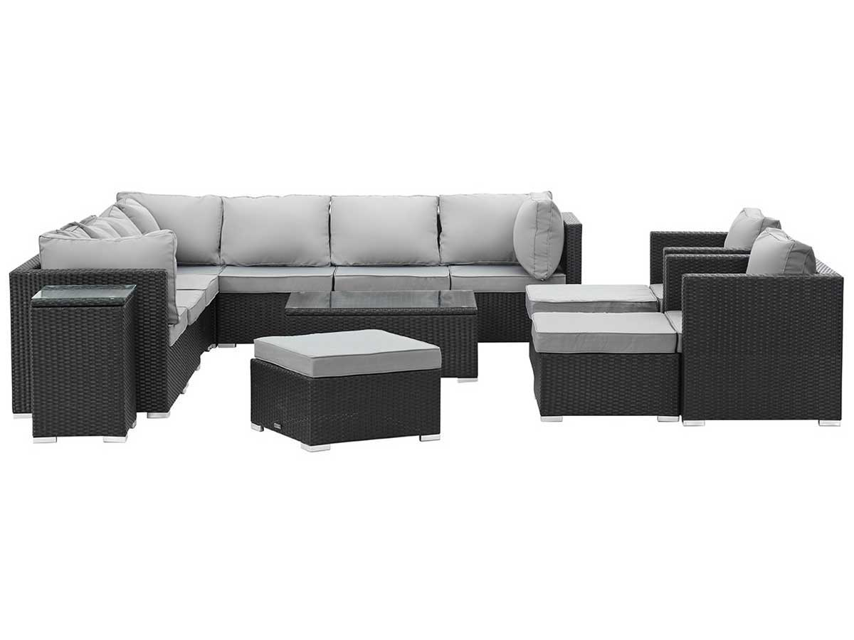 awesome salon de jardin resine tressee noir atlanta. Black Bedroom Furniture Sets. Home Design Ideas