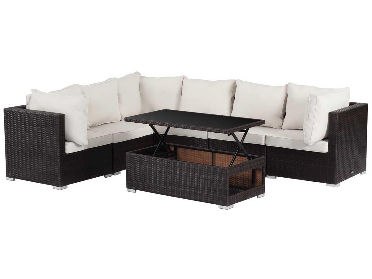 salon de jardin modulable en r sine tress e auckland luxe buffalo table basse relevable. Black Bedroom Furniture Sets. Home Design Ideas