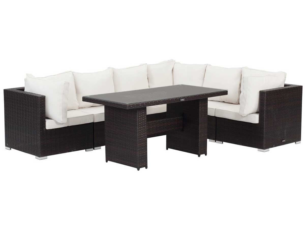 salon de jardin repas modulable en r sine tress e feroe buffalo marron 89284. Black Bedroom Furniture Sets. Home Design Ideas