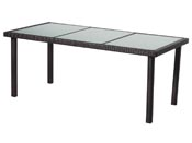 "Table de jardin ""St Tropez 6"" - Buffalo - 150 x 90 x 74 cm - Marron"