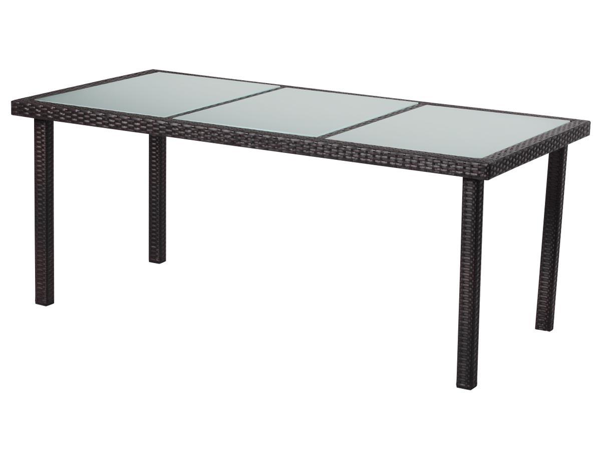 Table de jardin st tropez 6 buffalo 150 x 90 x 74 cm marron 86754 86755 - Table jardin balcon saint paul ...