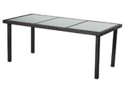 "Table de jardin ""St Tropez 8"" - Buffalo - 180 x 90 x 74 cm - Marron"