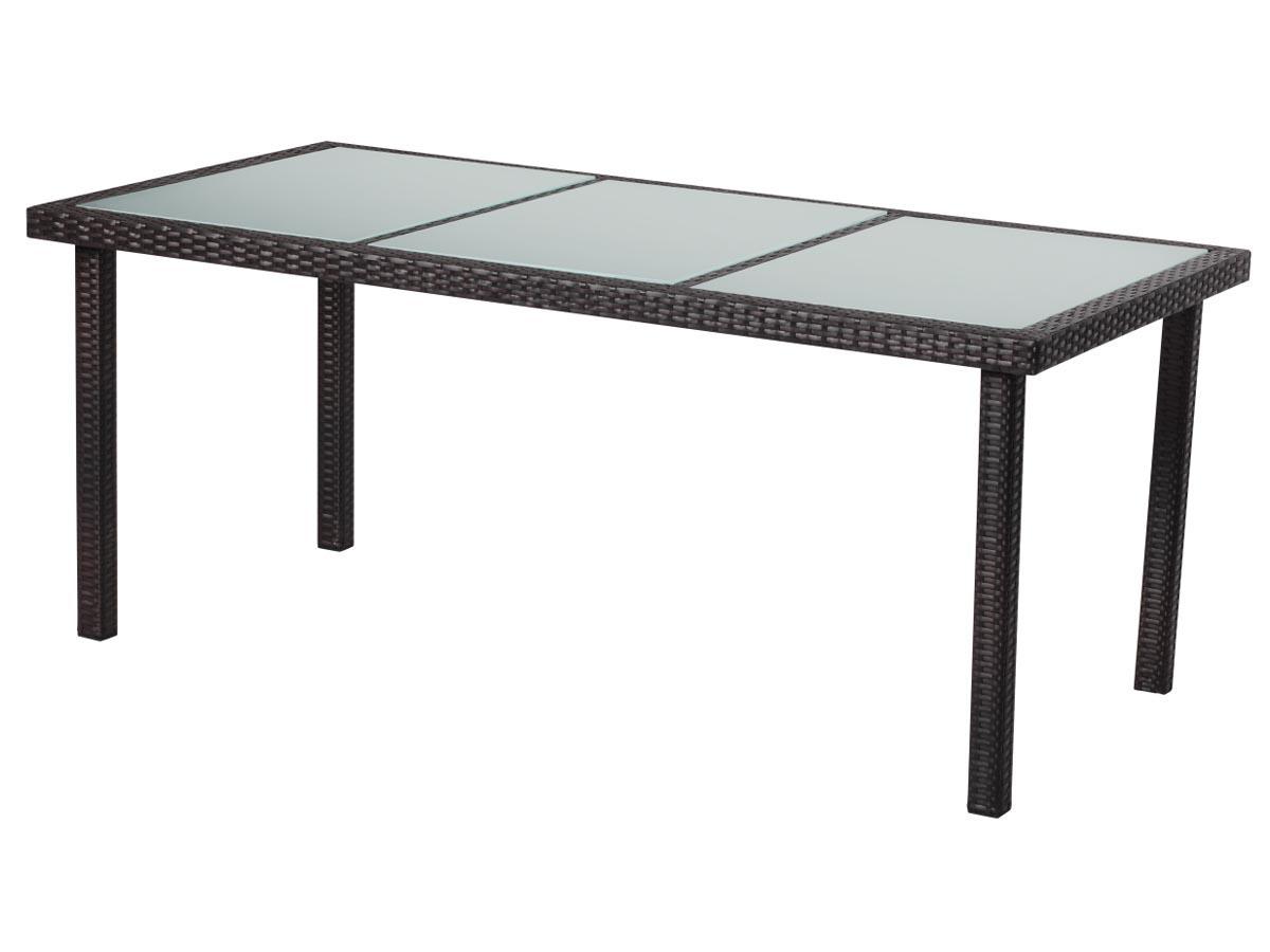 Table de jardin st tropez 8 buffalo 180 x 90 x 74 cm marron 86754 86756 - Table de jardin industriel saint etienne ...