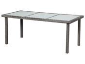 """Table de jardin """"St Tropez 6"""" - Florida - 150 x 90 x 74 cm - Gris"""