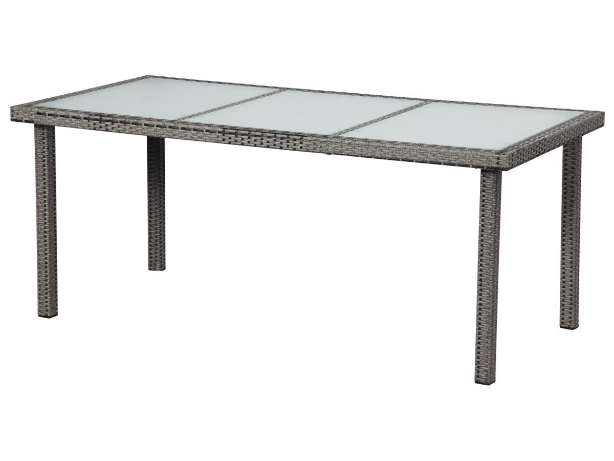 Table de jardin St Tropez 6 - Florida - 150 x 90 x 74 cm - Gris