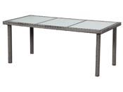 """Table de jardin """"St Tropez 8"""" - Florida - 180 x 90 x 74 cm - Gris"""