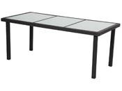 "Table de jardin ""St Tropez 6"" - Atlanta - 150 x 90 x 74 cm - Noir"