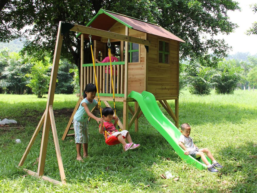 cabane enfant bois emilie x x m 60010. Black Bedroom Furniture Sets. Home Design Ideas
