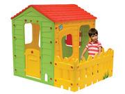 """Cabane enfant en PVC """"Fermette"""" - 1.18 x 1.46 x 1.27 m"""