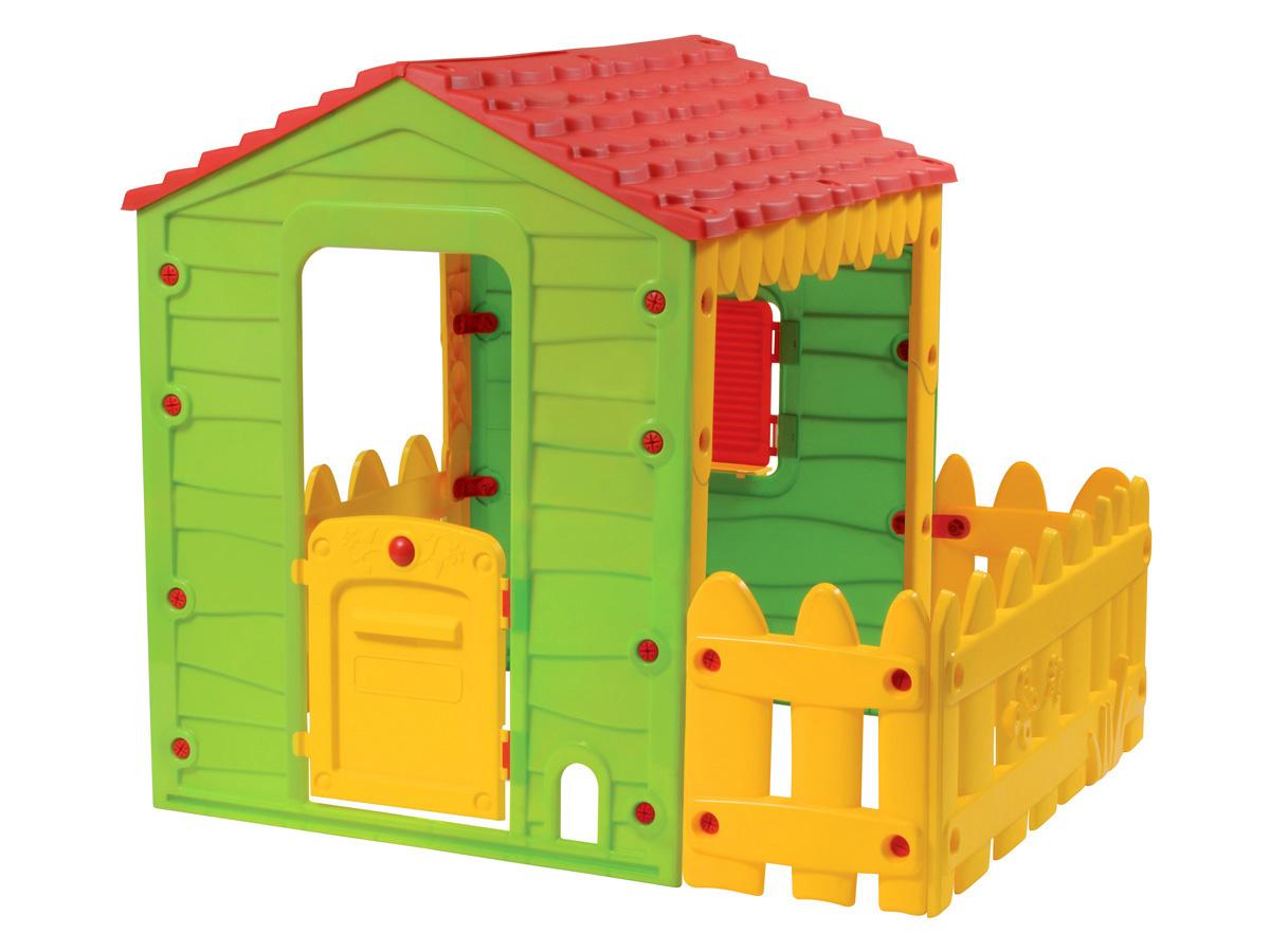cabane enfant ferme avec jardinet 146 x 118 x 127 cm 80697. Black Bedroom Furniture Sets. Home Design Ideas