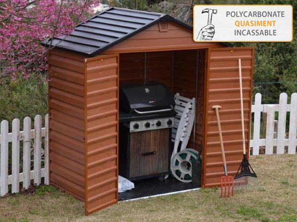 abri de jardin en polycarbonate rev tements modernes du toit. Black Bedroom Furniture Sets. Home Design Ideas