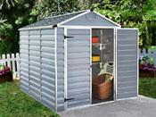 """Abri de jardin polycarbonate """"Skylight"""" - 4.25 m² - Gris"""