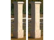 """Lot de 2 piliers de portail """"Tradition"""" - 41 x 41 x 50 cm"""