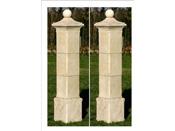 """Lot de 2 piliers de portail """"Provençal"""" - 41 x 41 x 50 cm"""