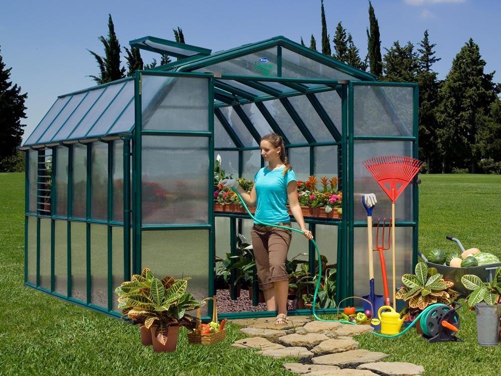 Serre jardin polycarbonate cezanne m 60223 for Jardin 91