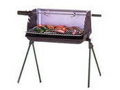 "Barbecue bois ""Nairobi"" - Grille rectangle : 51 x 25 cm"